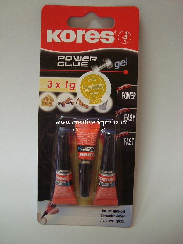 lepidlo vteřinové 3x1 g Kores Power Glue
