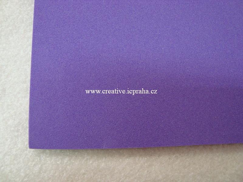 Moosgummi 20x30 cm fialová KP