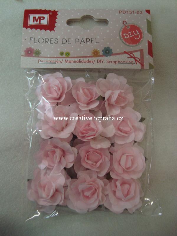 kytičky růže - růžové sv.12ks PD151-03a