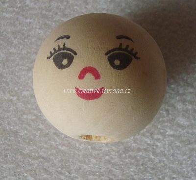 obličej mm - kulička dřevěná
