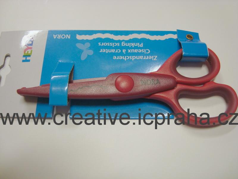 nůžky ozdobné Nora - červená