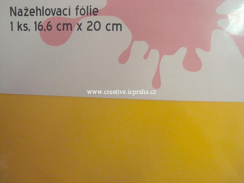 nažehl. folie - 20x16,6cm žlutá  střední