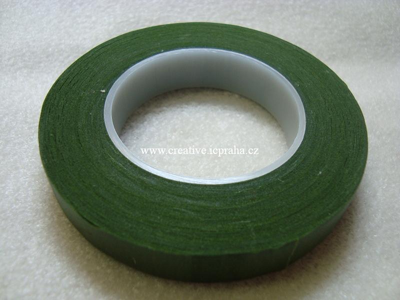 páska zelená - floristická 13mm/27m