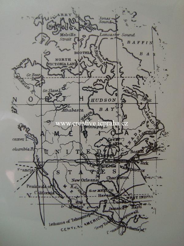 razítka Cling DD - Mapa - 9x6cm