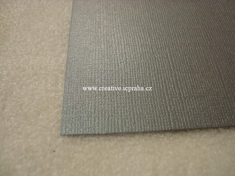 perleťový papír- struktura A4 220g/m2 - Šedá