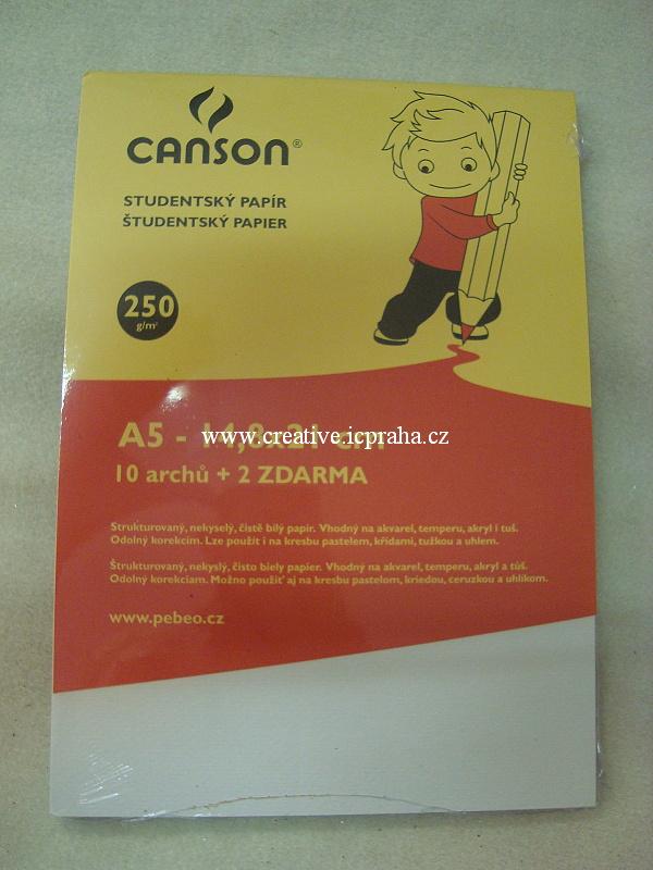 skicák A5 CANSON 250g/10listů acid  free