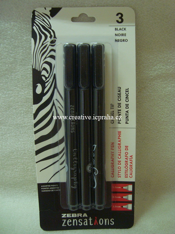 Calligraphy Pens  Zebra -  Sada 1,2,3mm/3ks