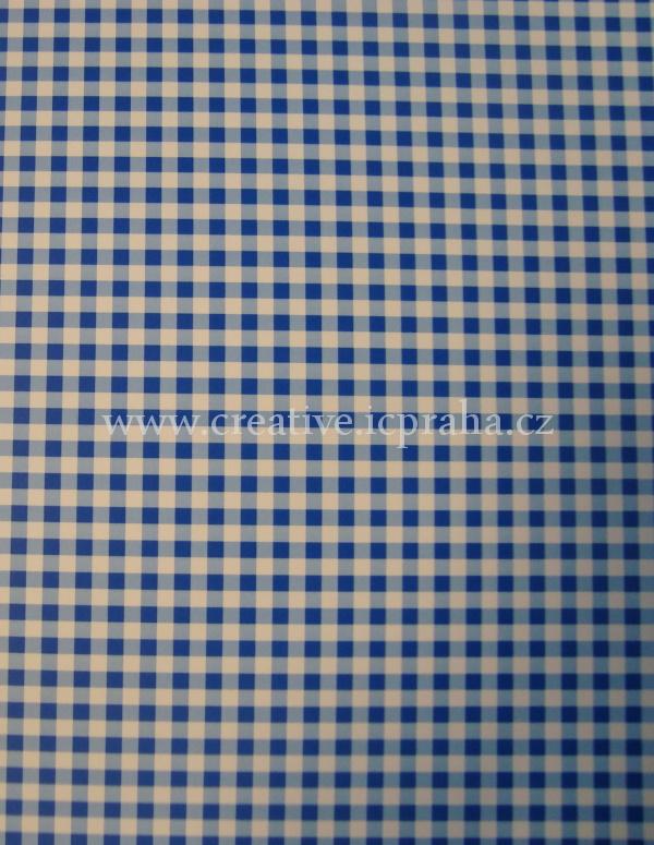 karton 200g/m2 A4 modrý čtverečk.  He