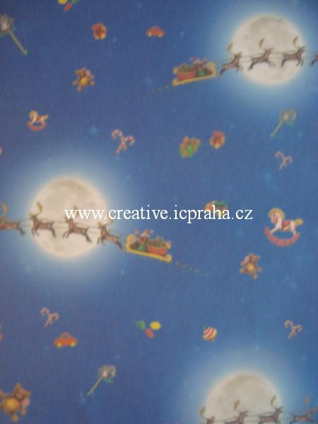 transp.papír 23x33cm - saně 89405/SLEVA