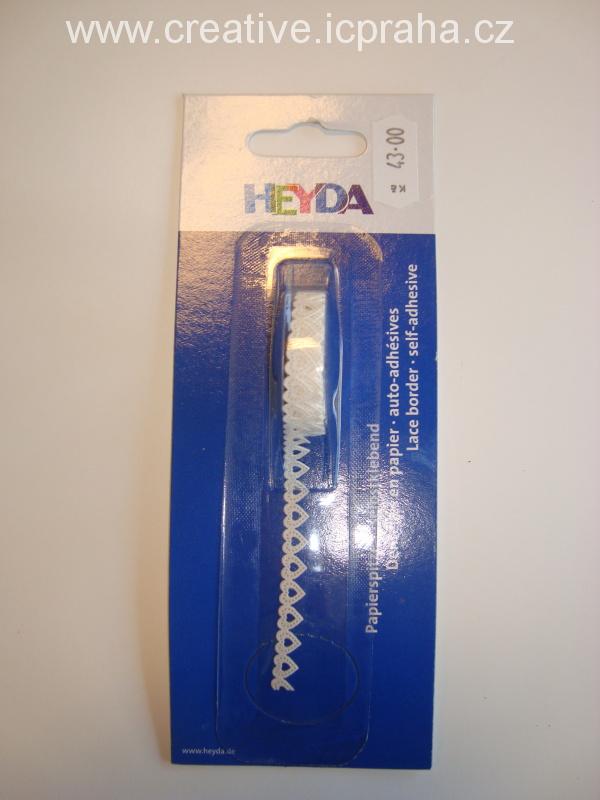 samolep. krajka 2m - srdíčka š.8mm bílá He4880083