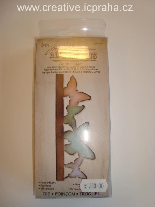 vyřezávací šablona  Alterations bordura motýli