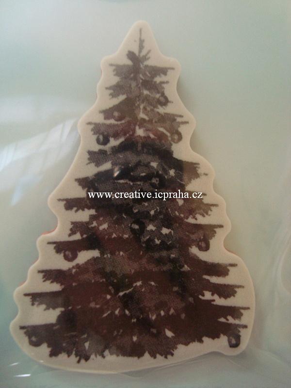 razítka Cling Spellb. - Vánoční strom 3D 7x10cm