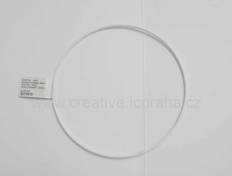 kovový kruh prům. 15cm bílý