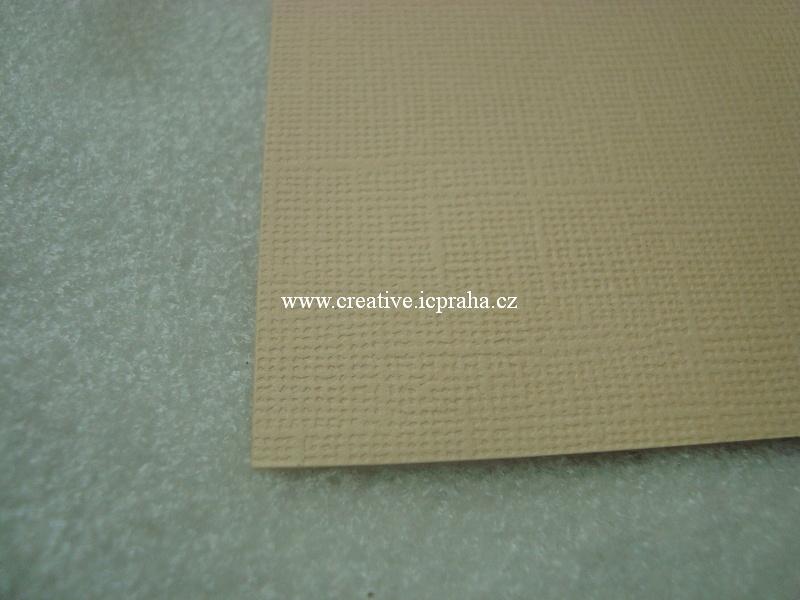papír 30x30cm struktura 220g/m2 - Pískový