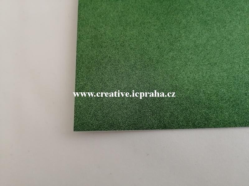 papír A4 250g/m2  glitr - zelená