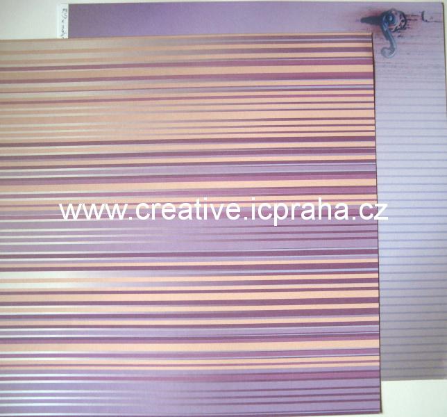 Institut  - proužky/fialová klika 30x30/190g/m2
