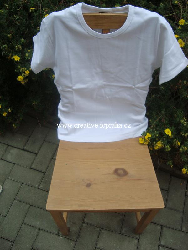 triko dámské elast. XL- bílá