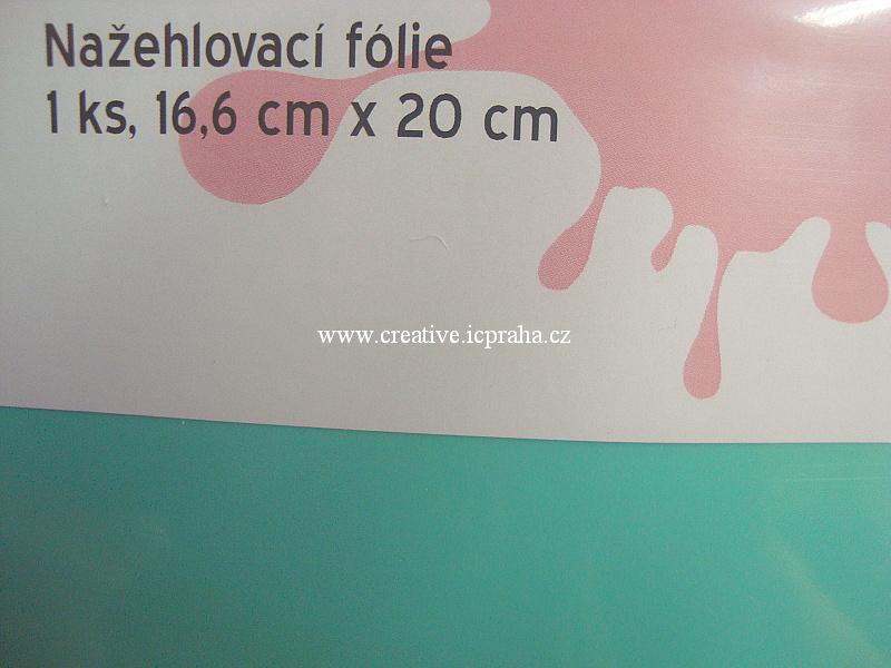 nažehl. folie - 20x16,6cm zelená mátová