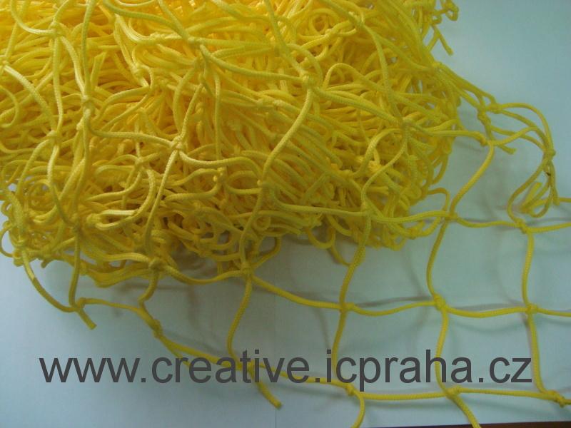 síťka uzlová 3x1m žlutá (oko 5cm) polypropylen