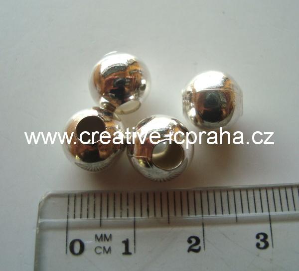 kulička 10mm - dírka 4mm /10ks ANTIK stříbro