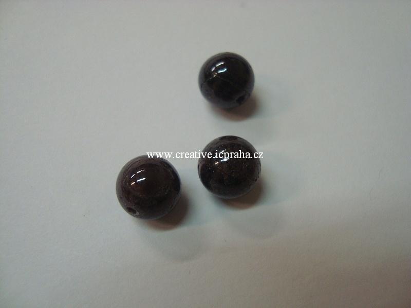 minerály kulička 8mm Granát bal.10ks