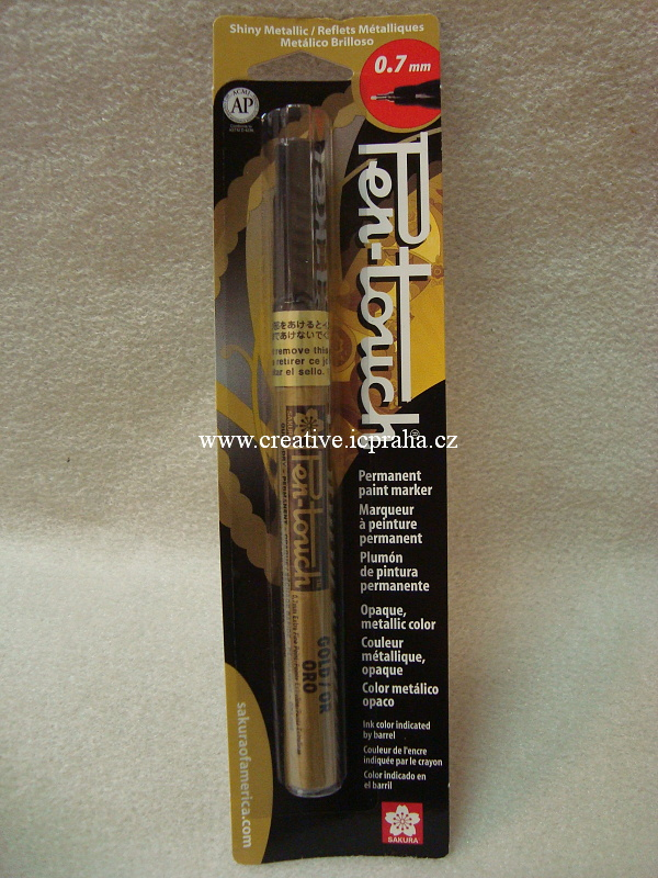 Pen-touch - Kaligraf.metal. popisovač 0,7mm zlatý