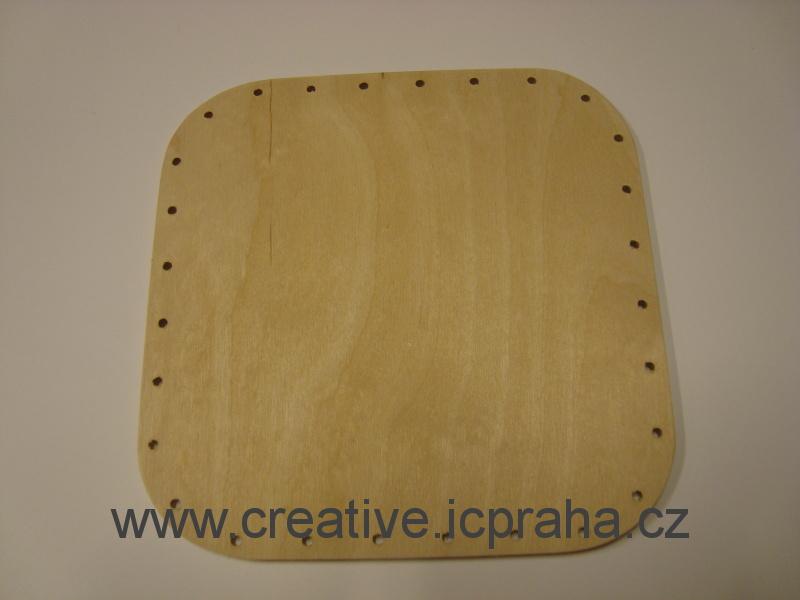 dno čtverec 15,5x15,5cm / překližka