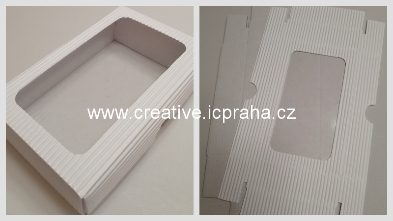 krabička s průhledem - 15x10x3,5/3cmcm bílá