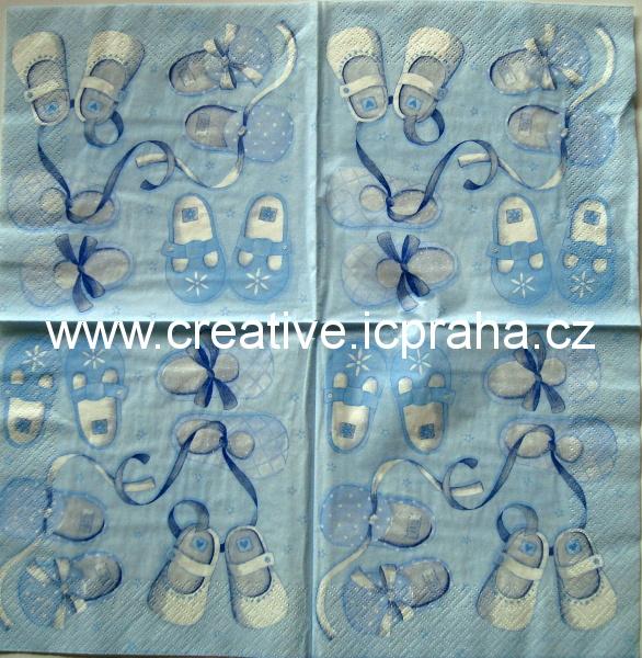 d-dětské boty modrý 204  TI-FLAIR