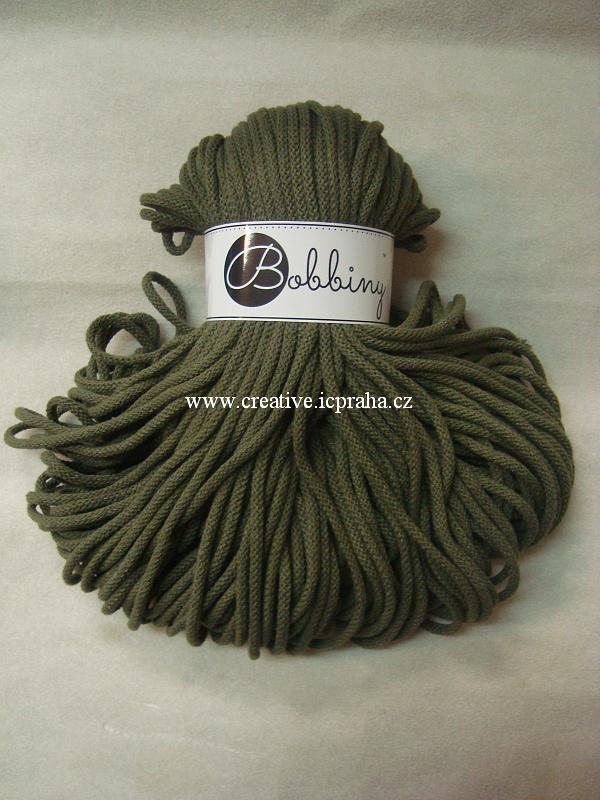 Bobbiny šňůry 100m/5mm - zelená avokádo