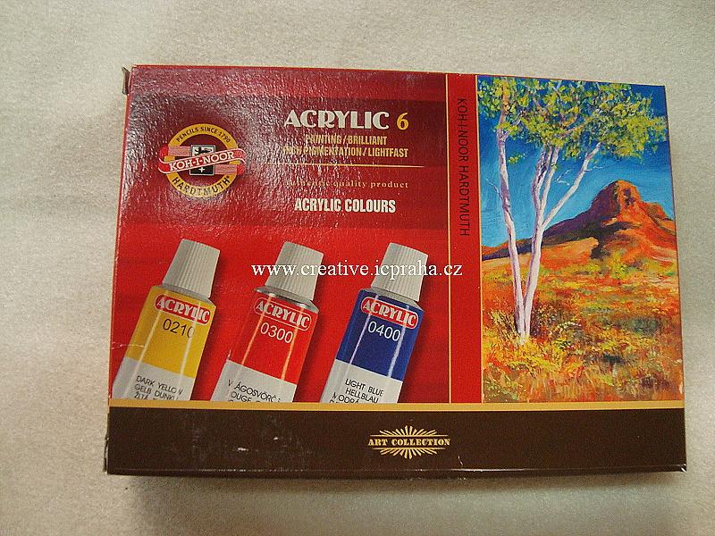 akrylové barvy - sada 6 x 16ml Koh-i-noor