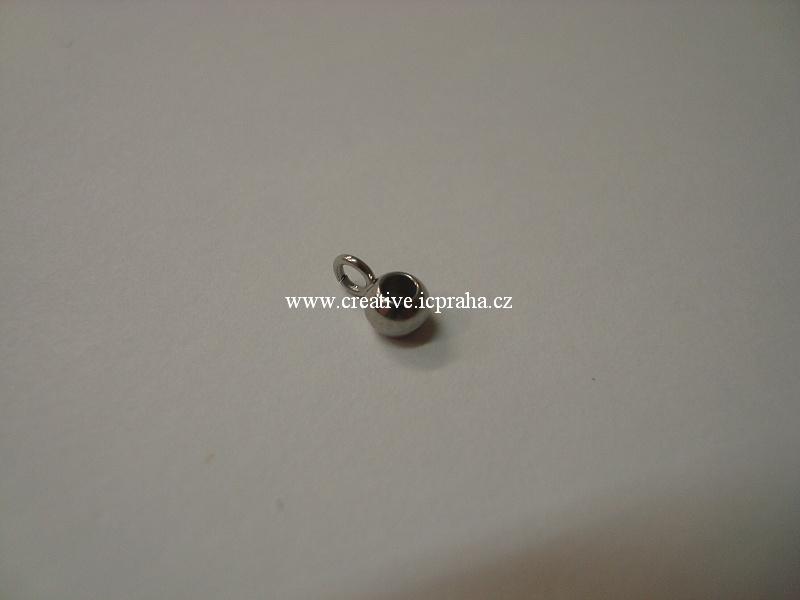 přívěšek Korálek s očkem 3,5mm ocel