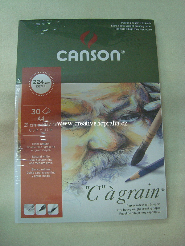 skicák A4 Cansom 250g/m2 10 listů +2  acid free