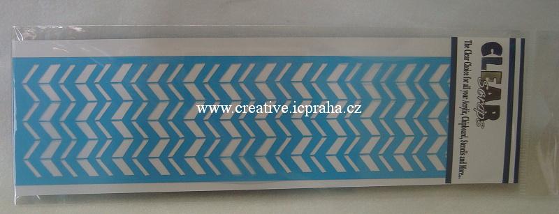 šablona CLSc - bord.Cik Cak 30x7,5cm 124654