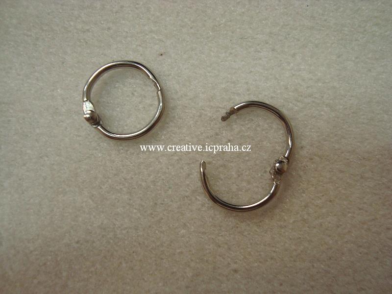 kroužky do alba - kov prům.19mm 2520100
