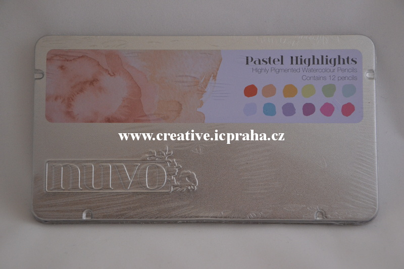 pastelky Nuvo Highlights  akvarel 12 bar.