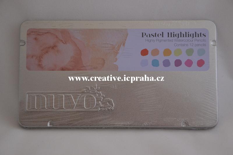 pastelky Nuvo Highlights  akvarel 12 bar.