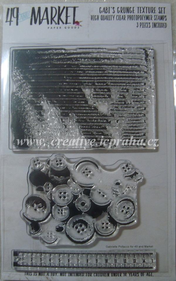 raz.silik.Textura a knoflíky - 10x15cm GP84840