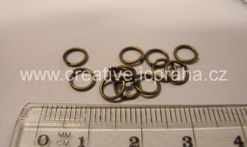 Spojovací kroužek 6mm bronz bal.50ks
