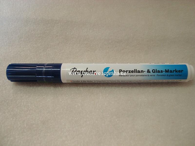 Popisovač na sklo a  porc. 1-2mm - modrý RY387