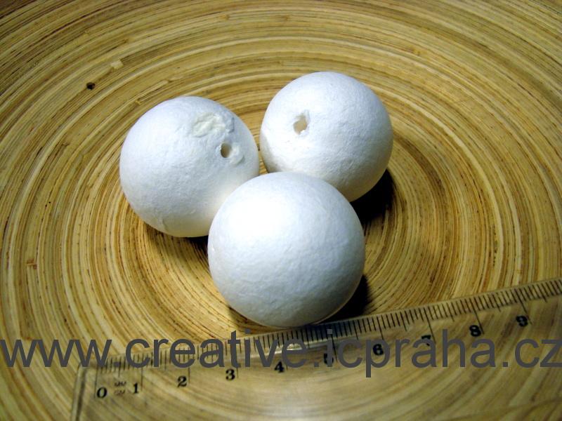 kuličky vatové - bílé 3,5cm 41000920/ks