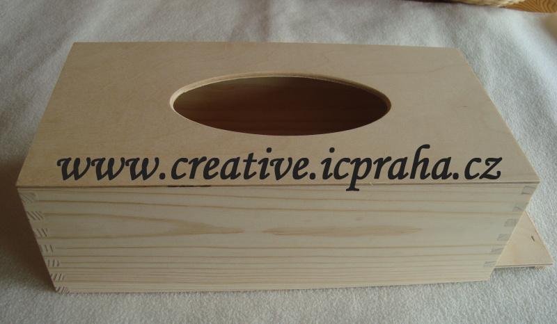 krabička na kapesníky 27 x 13,5 x 9cm