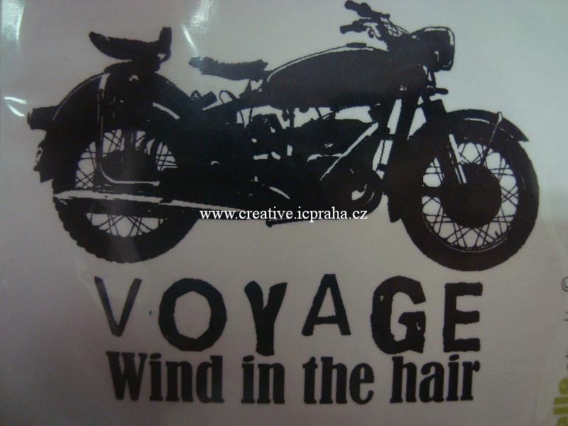 razítka Cling CS - Motocykl 7x9cm 0078E
