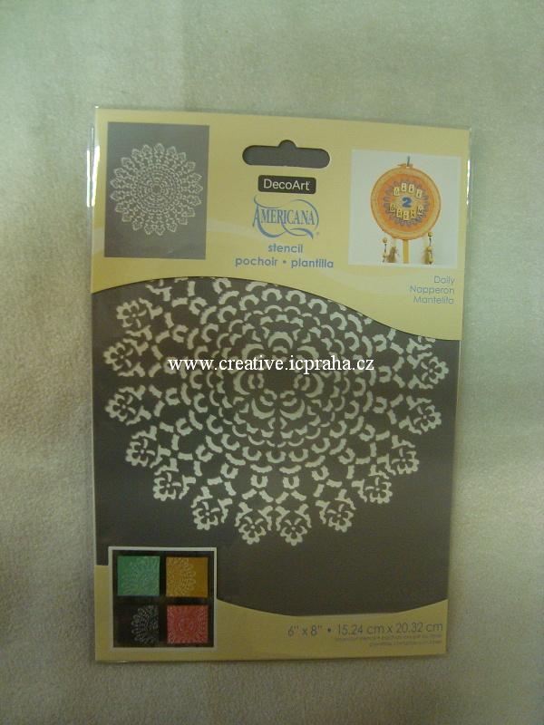 šablona plast DA 15x20cm - Mandala