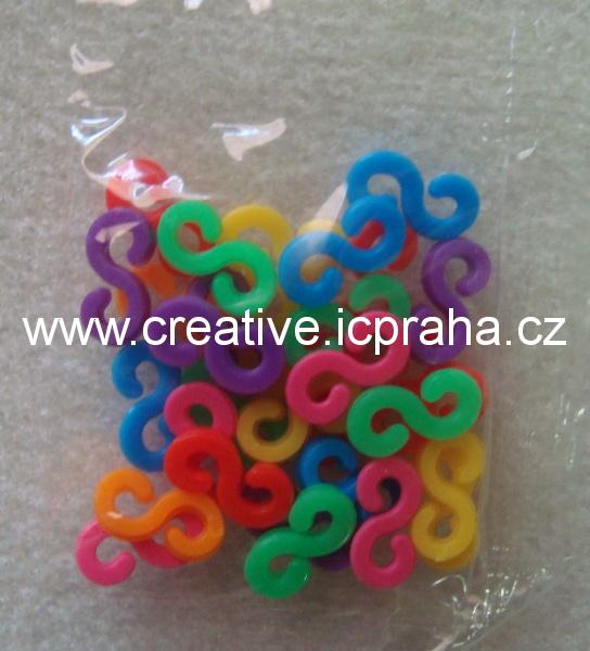 gumičky Loops- zapínání 25ks barevné 11x5mm