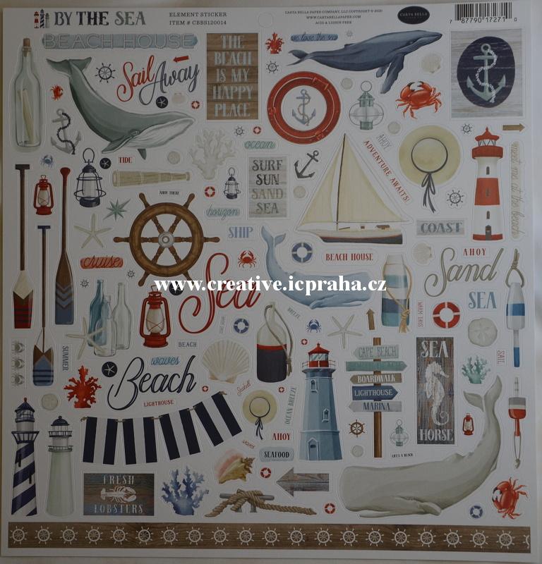 Carta Bella - By the sea/výseky samolepky na archu