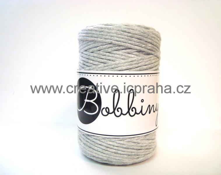 BobbinyMacrame Baby100m/1,5mm - Šedá sv. Grey ligh