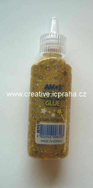 lepidlo glittrové AMOS 22ml - zlaté 1517