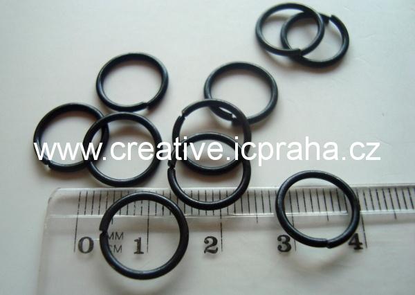 Spojovací kroužek 12mm černý zinek 10ks