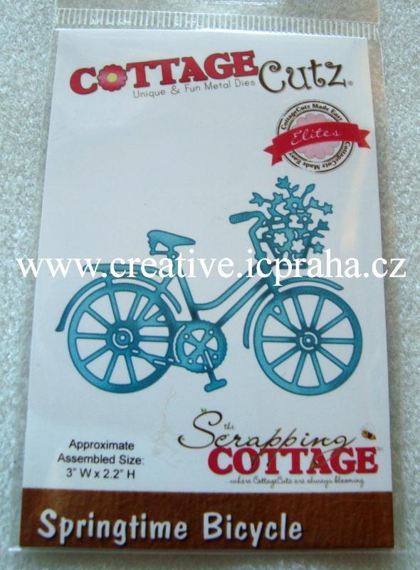 vyřezávací šablona  COTTAGE Cutz Bicycle 8x6cm